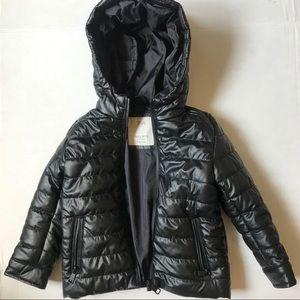 Black Zara Puffer Jacket